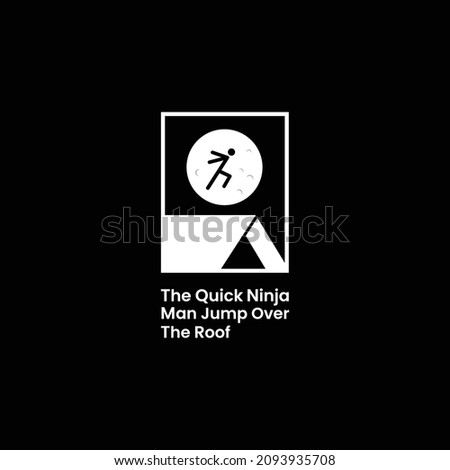 вектора ниндзя полнолуние прыжки спорт фон Сток-фото © Elisanth