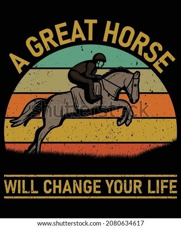 Paard silhouet vector mensen opleiding Stockfoto © Hermione