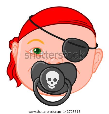 ребенка голову пиратских соска красный Сток-фото © adrian_n