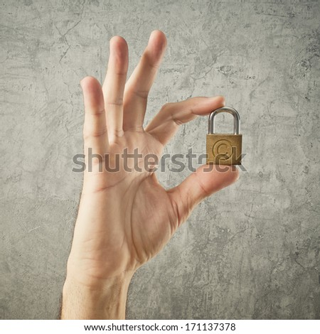 手 南京錠 著作権 シンボル セキュリティ ストックフォト © stevanovicigor
