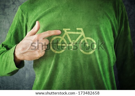 bicicleta · assinar · grama · estrada · trabalhar · seta - foto stock © stevanovicigor
