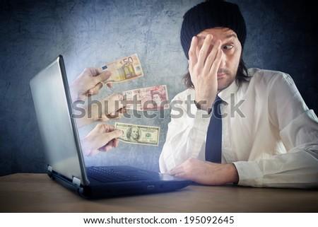 online money funds surprised businessman receiving cash over in stock photo © stevanovicigor