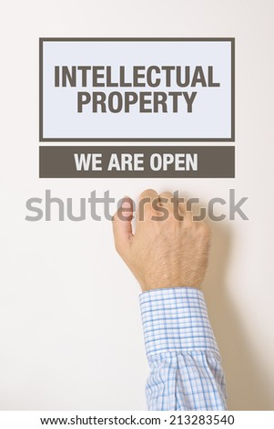 Foto stock: Empresário · propriedade · intelectual · escritório · porta · olhando · ajudar