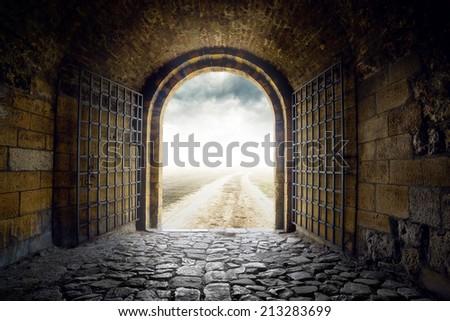 kapı · açılış · sonsuz · yol - stok fotoğraf © stevanovicigor