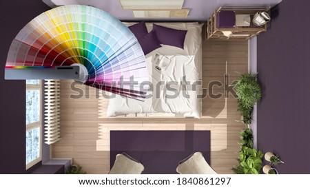 blue tones on a color pallet. illustration design over a white b Stock photo © alexmillos