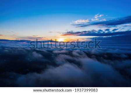 Blue sky and clouds background Stock photo © karandaev