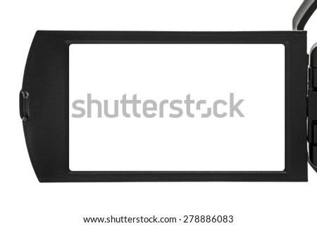 digital handycam video camcorder display as blank space stock photo © stevanovicigor