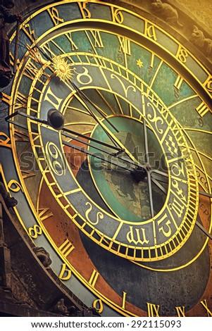 Praag · sterrenkundig · klok · beroemd · stadhuis - stockfoto © stevanovicigor