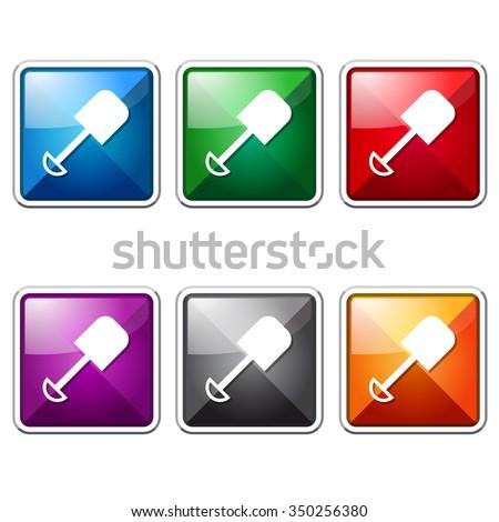 Shoval Red Vector Icon Design Stock photo © rizwanali3d
