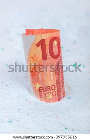 Dinheiro qualidade lavagem lavanderia detergente Foto stock © stevanovicigor