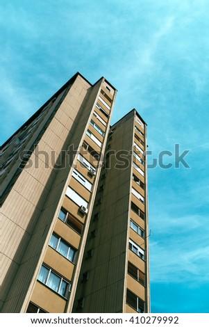 socialist architecture example tall residential skyscraper buil stock photo © stevanovicigor