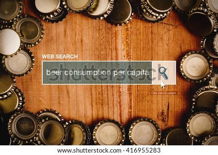 Beer consumption per capita - web search bar glossary term. Stock photo © stevanovicigor