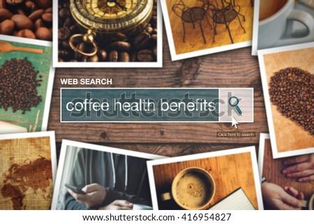 Web búsqueda bar café salud beneficios Foto stock © stevanovicigor