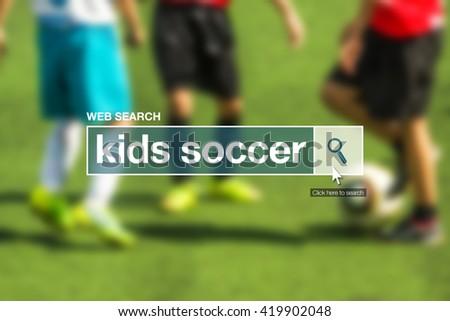 Kids soccer web search bar glossary term Stock photo © stevanovicigor