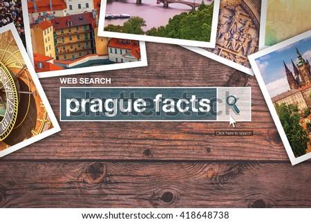 Prague facts - web search bar glossary term Stock photo © stevanovicigor