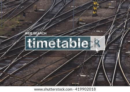 Railway timetable web search box Stock photo © stevanovicigor