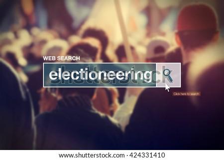 Electioneering - web search box glossary term Stock photo © stevanovicigor
