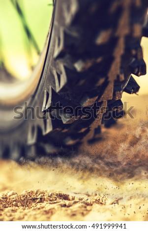 горных · велосипедов · быстро · дороги · человека · пейзаж · горные - Сток-фото © stevanovicigor