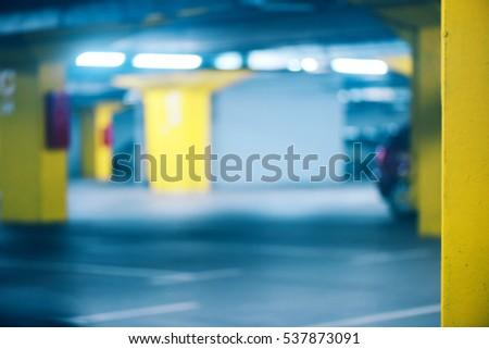 underground garage parking lot blur abstract defocussed backgro stock photo © stevanovicigor