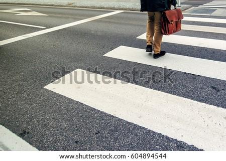 ビジネスマン 歩行者 シマウマ 方法 作業 認識できない ストックフォト © stevanovicigor