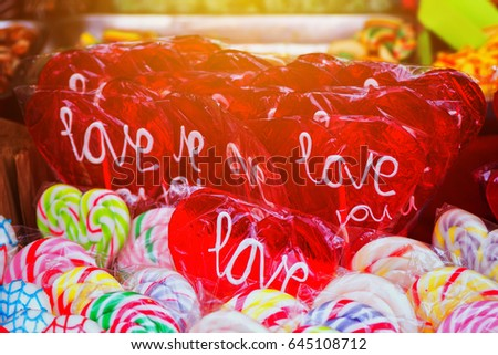 愛 · キャンディー · 開く · 心臓の形態 · 木製 - ストックフォト © stevanovicigor