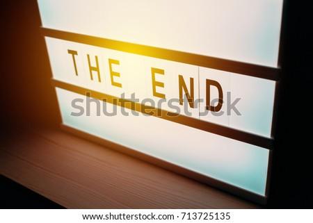 Blinking lightbox with The End text Stock photo © stevanovicigor