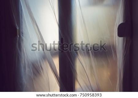 Plastic sheet masking over the door Stock photo © stevanovicigor