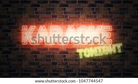 Karaoke tonight neon sign Stock photo © stevanovicigor