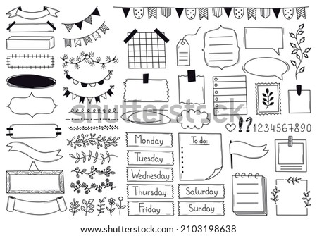 Bunting flags head hand drawn outline doodle icon. Stock photo © RAStudio