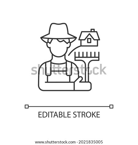 Farmer Man Lives in Rural Area Vector Illustration Stock photo © robuart