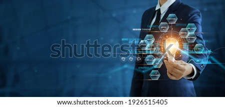 Businessman holding communication symbols Stock photo © ra2studio