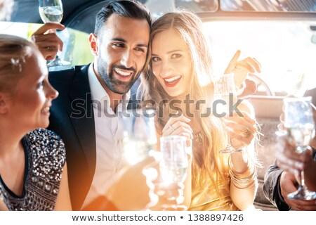 празднование дня рождения очки шампанского автомобилей вечеринка друзей Сток-фото © Kzenon