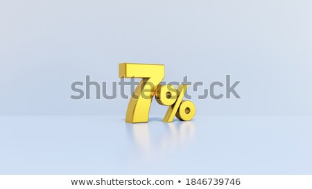 twenty seven percent on white background. Isolated 3D illustrati Stock photo © ISerg
