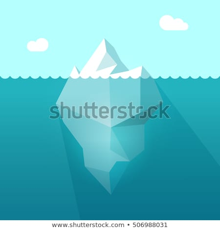 glacier floating on antarctic water waves vector stock photo © pikepicture
