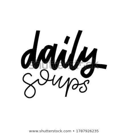 Minden nap menü fal dekoráció poszter felirat Stock fotó © FoxysGraphic