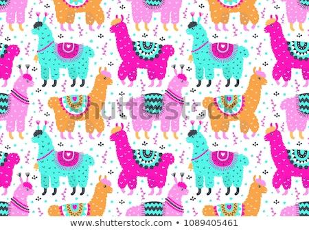 Karikatür sevimli karalamalar latin amerika renkli Stok fotoğraf © balabolka