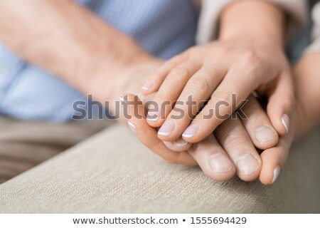 Kéz beteg nyugdíjas férfi óvatos fiatal Stock fotó © pressmaster