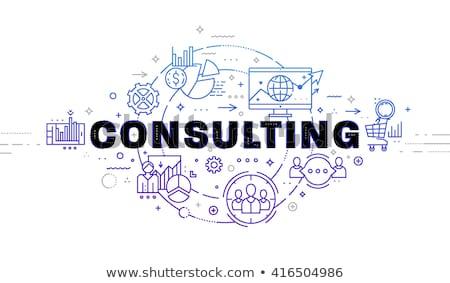 Időbeosztás üzlet konzultáció vektor tanácsadás stratégiai Stock fotó © robuart
