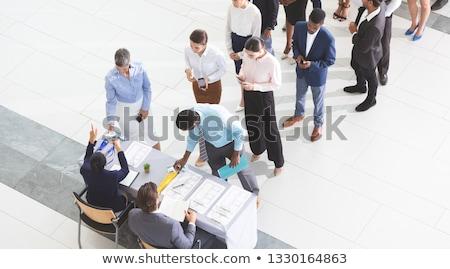 Zakenlieden conferentie registratie Stockfoto © wavebreak_media