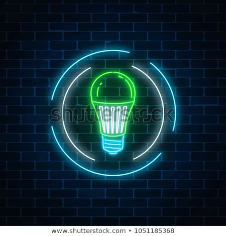 Green Energy Neon Icons Stock photo © Anna_leni