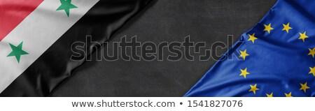 Vlaggen Syrië europese unie exemplaar ruimte business Stockfoto © Zerbor