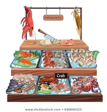Caviar frutos do mar produto elementos vetor Foto stock © pikepicture