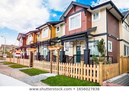 Colored row houses Stock photo © elxeneize
