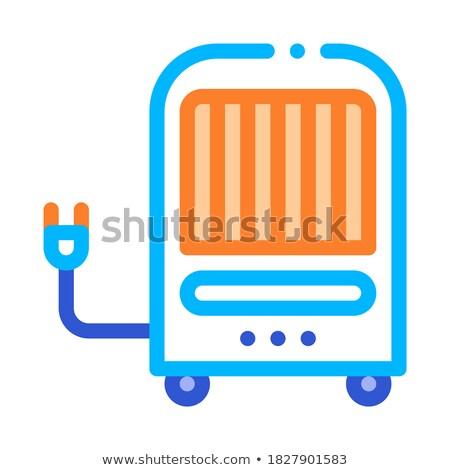 Portátil aire clima vector icono delgado Foto stock © pikepicture