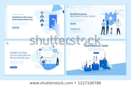 HEALTH INSURANCE - Banner Layout Template for Website and Mobile Website Development. Stock photo © tashatuvango