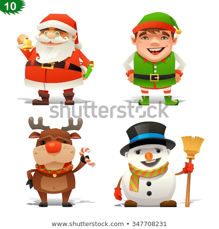 Merry Christmas and New Year, Elves Set Website Stock photo © robuart