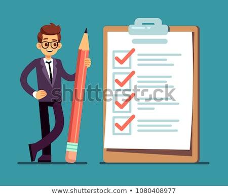 Estudio cuestionario prueba forma banner Foto stock © -TAlex-