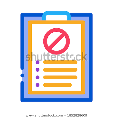 Geschreven protest icon vector schets illustratie Stockfoto © pikepicture