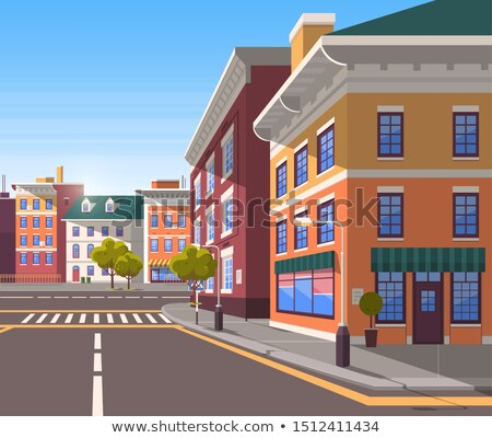 Cityscape Realistic Look of City, Town Street Stock photo © robuart