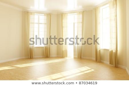 солнечный свет отражение современных пустой комнате стены 3D Сток-фото © sedatseven